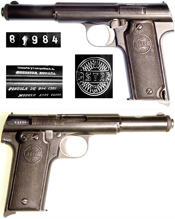 pistole astra 9mm